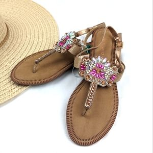 NEW Andiamo Jeweled Thong Sandals